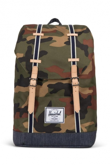Herschel Supply Co. Retreat Offset backpack woodland camo/dark denim