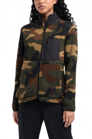 Herschel Supply Co. women's sherpa full zip jacket woodland camo
