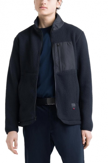 Herschel Supply Co. men's sherpa full zip jacket black