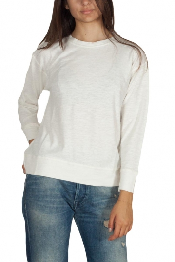 Thinking Mu hemp long sleeve tee off white