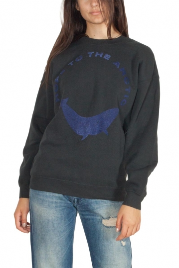Thinking Mu Hope to the artic women's sweatshirt black