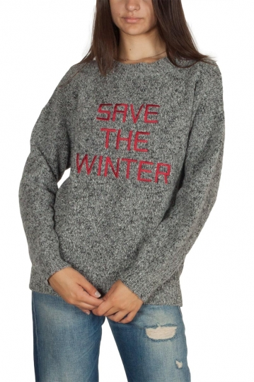 Thinking Mu Save the winter merino wool jumper grey melange