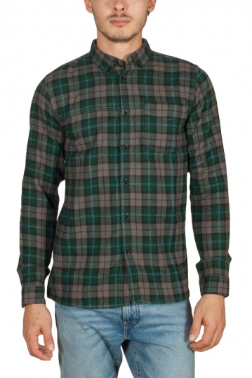 Anerkjendt Hamlet flannel check shirt dark forest