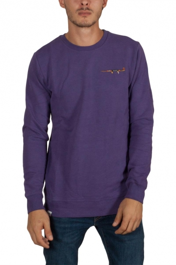 Anerkjendt Sverre sweatshirt purple with embroidery back patch