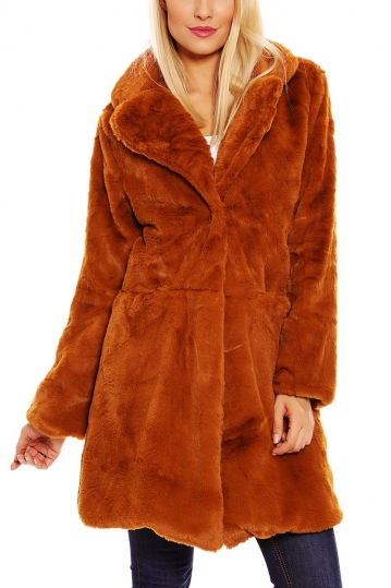 Faux-fur coat camel Esther.H