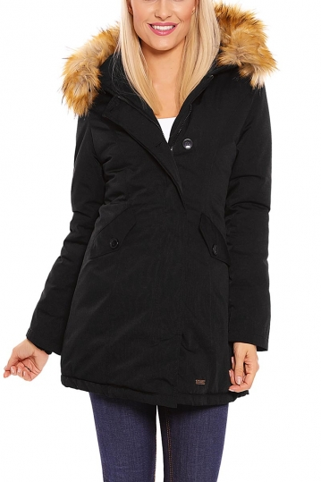 Padded parka black with hood Mayaadi