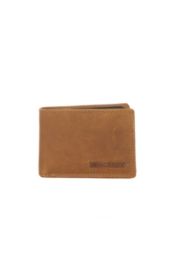 Hill Burry men's leather wallet cognac