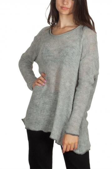 Lotus Eaters Parma open knit blouse grey