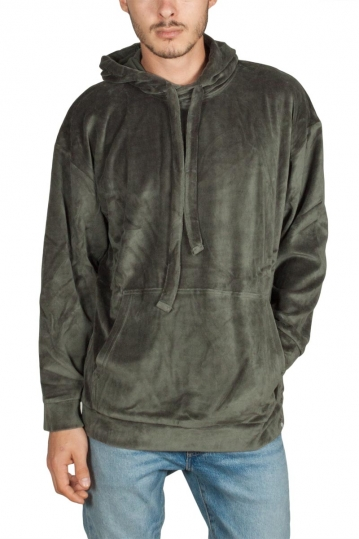 Minimum Koelby velvet hoodie racing green