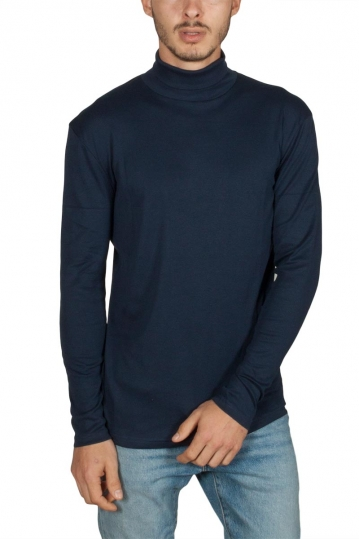 Minimum Voel long sleeve turtleneck tee navy