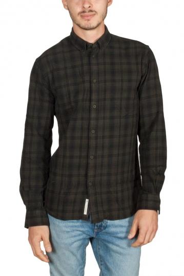 Minimum Walther καρό πουκάμισο σκούρο λαδί