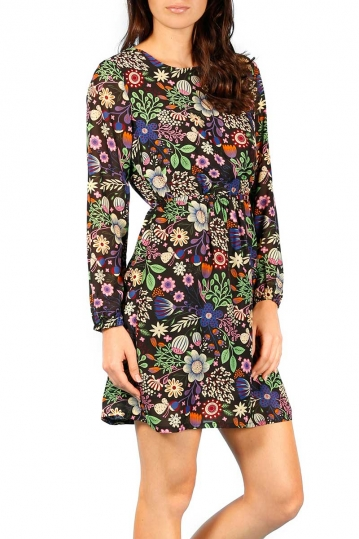 Minueto Flower basic mini dress