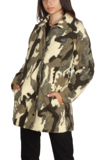 Obey Covert women's sherpa jacket camo