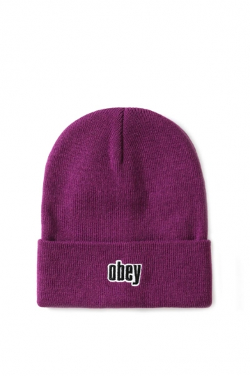 Obey Highland men's long beanie plum