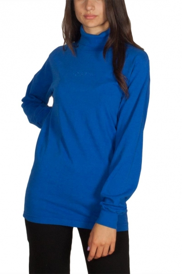 Obey Moody women's turtleneck top royal blue