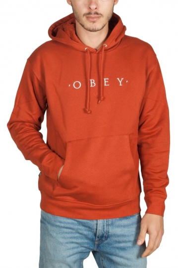 Obey Nouvelle hoodie terracotta