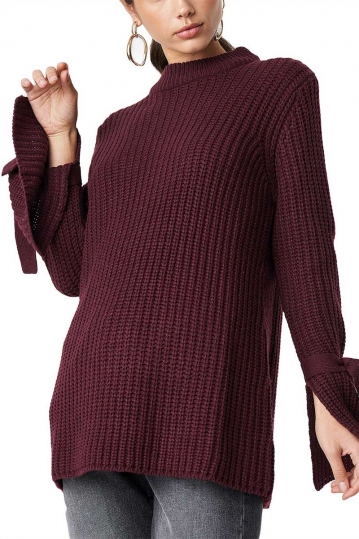 Rut and Circle Samira knot knit red wine