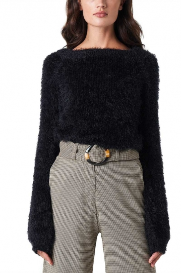 Rut and Circle Feather jumper black