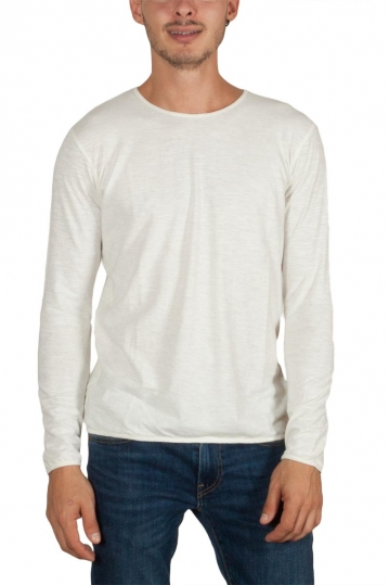 Thinking Mu hemp long sleeve men's tee off white