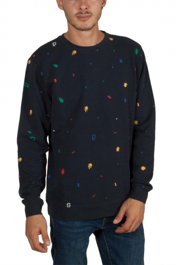 Thinking Mu Matisse leafs men's sweatshirt total eclipse