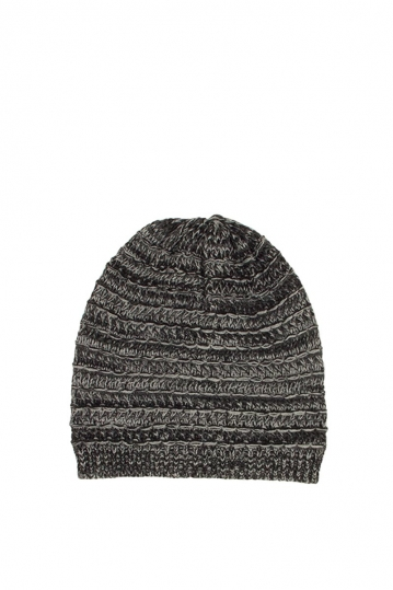 Men's beanie black-grey marl