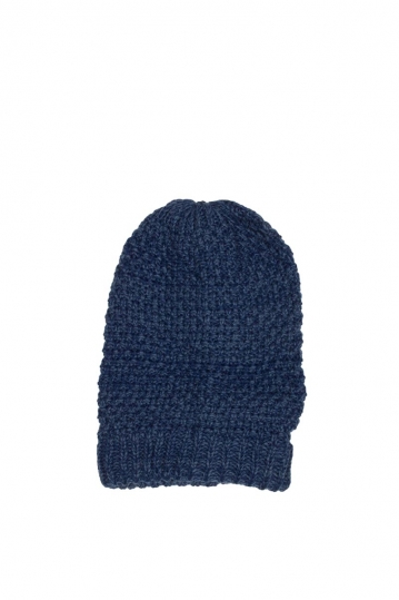 Long beanie blue melange
