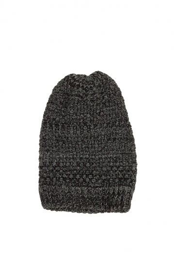 Long beanie dark grey melange
