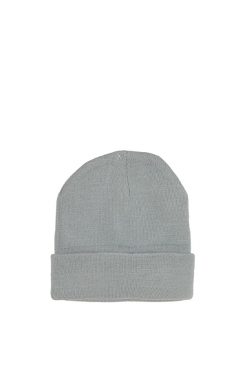 Men's turn up beanie grey