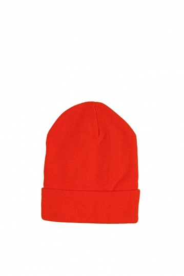 Men's turn up beanie orange