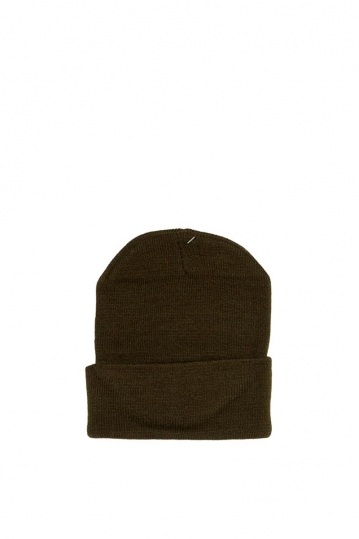 Men's turn up beanie khaki