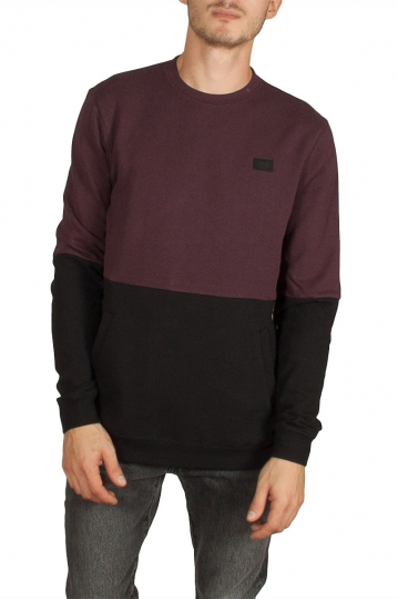 Globe Conquest men's color block sweatshirt wine
