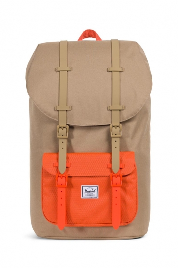 Herschel Supply Co. Little America backpack kelp/vermillion orange