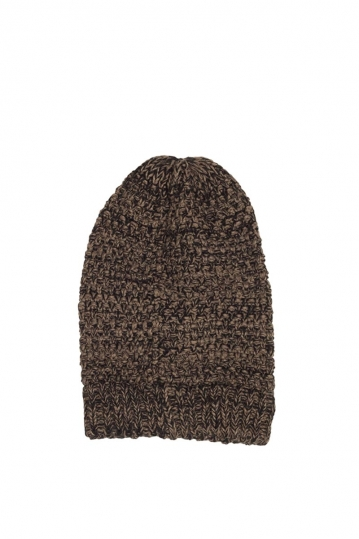 Long beanie brown melange