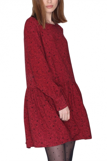 Pepaloves Amelie oversized mini dress wine