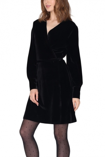 Pepaloves velvet dress black