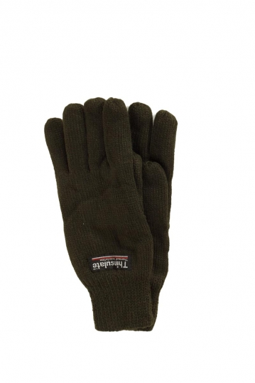 Thinsulate lined knitted gloves khaki