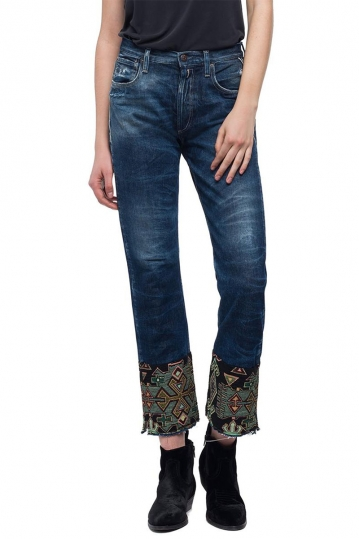 Replay cropped fit Alexys jeans dark denim