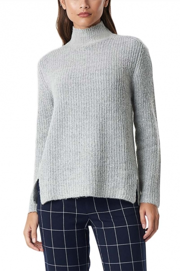 Rut & Circle Marielle turtleneck jumper light grey melange
