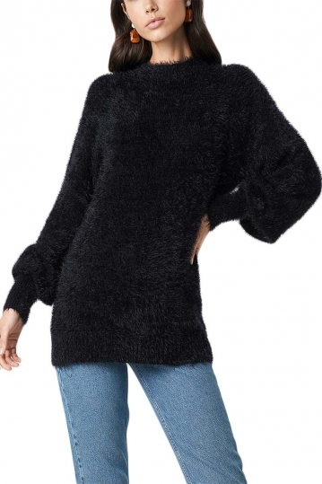 Rut and Circle Ferdone balloon sleeve knit black