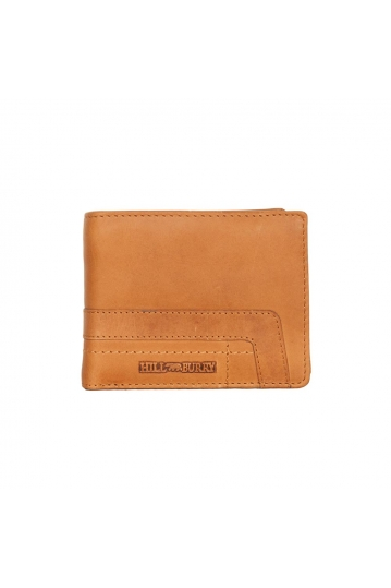 Hill Burry men's bi-fold leather wallet brown